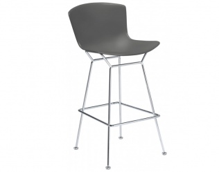 BERTOIA PLASTIC BAR & COUNTER HEIGHT STOOL