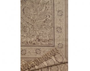 KASHMIR TAUPE THROW
