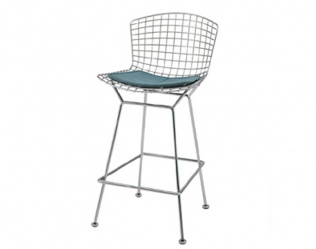 BERTOIA BARSTOOL OR COUNTER HEIGHT STOOL